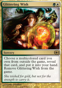 Magic the Gathering Future Sight Single Glittering Wish - SLIGHT PLAY (SP)