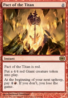 Magic the Gathering Future Sight Single Pact of the Titan Foil