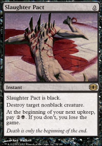 Magic the Gathering Future Sight Single Slaughter Pact UNPLAYED (NM/MT)