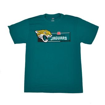 Jacksonville Jaguars Majestic Teal Critical Victory VII Tee Shirt (Adult L)