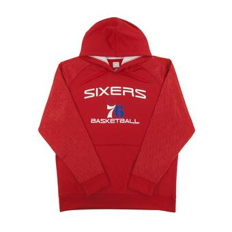 Philadelphia 76ers Majestic Red Jump Off Performance Fleece Hoodie (Adult L)