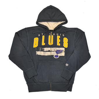 St. Louis Blues Old Time Hockey Sumner Navy Full Zip Hoodie (Adult XXL)