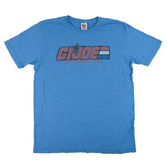 G.I. Joe Junk Food Blue Logo & Motto Tee (Adult XL)