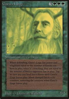 Magic the Gathering Beta Single Gaea's Liege - SLIGHT PLAY (SP)
