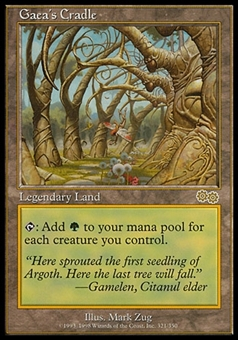 Magic the Gathering Urza's Saga Single Gaea's Cradle - MODERATE / HEAVY PLAY (MP/HP)