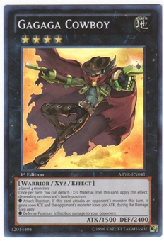 Yu-Gi-Oh Abyss Rising 1st Ed. Single Gagaga Cowboy Super Rare - NEAR MINT (NM)