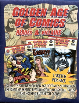 Golden Age of Comics Heroes and Villains Sketch Card Pack (Breygent 2010)