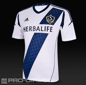 Los Angeles Galaxy Adidas ClimaCool White Replica Jersey (Adult S)