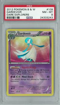 Pokemon Black & White Dark Explorers Gardevoir 109/108 Holo Ultra Rare PSA 8