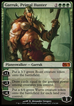 Magic the Gathering 2012 Single Garruk, Primal Hunter - NEAR MINT (NM)