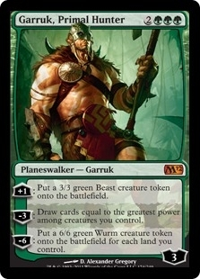 Magic the Gathering 2012 Single Garruk, Primal Hunter Foil - NM