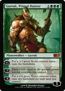 Magic the Gathering 2013 Single Garruk, Primal Hunter - MODERATE PLAY (MP)