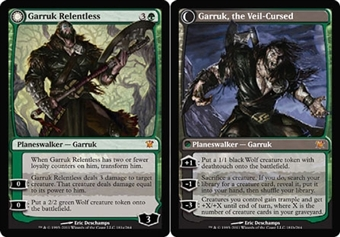 Magic the Gathering Innistrad Single Garruk Relentless - Garruk, the Veil-Cursed - SLIGHT PLAY (SP)