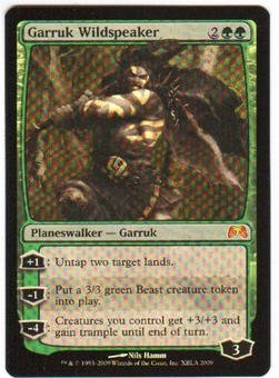 Magic the Gathering Promo XBox Single Garruk Wildspeaker FOIL