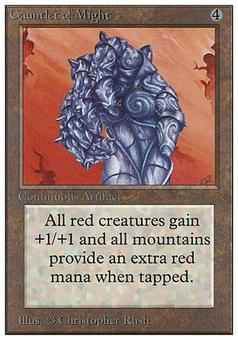 Magic the Gathering Unlimited Single Gauntlet of Might - HEAVY PLAY (HP)