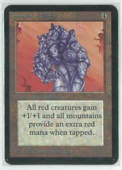 Magic the Gathering Alpha Single Gauntlet of Might - SLIGHT PLAY (SP)