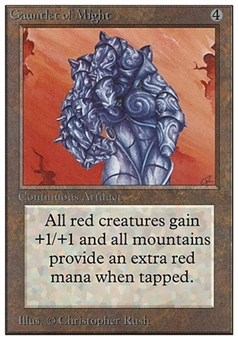 Magic the Gathering Unlimited Single Gauntlet of Might - MODERATE PLAY (MP)