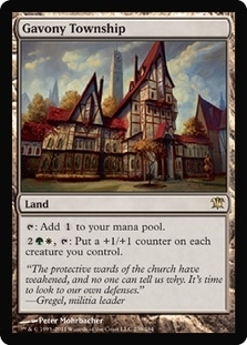 Magic the Gathering Innistrad Single Gavony Township - NEAR MINT (NM)