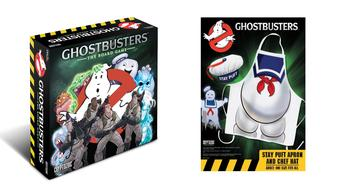 Ghostbusters: The Board Game and Stay Puft Apron & Chef Hat Set COMBO