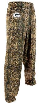Green Bay Packers Zubaz Green and Yellow Post Print Pants (Adult XL)