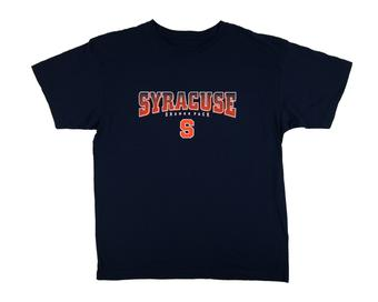 Syracuse Orange Red Oak Navy Tee Shirt (Adult M)