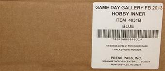 2013 Press Pass Gameday Gallery Football Hobby 10-Box Case