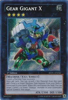 Yu-Gi-Oh Return of the Duelist 1st Edition Single Gear Gigant X Secret Rare