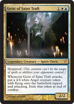 Magic the Gathering Innistrad Single Geist of Saint Traft FOIL