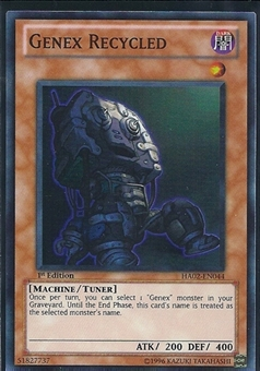 Yu-Gi-Oh Hidden Arsenal 2 Single Genex Recycled 3x Super Rare