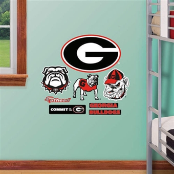 "Fathead Georgia Bulldogs Team Logo Wall Graphic 4'3""W x 2'8""H"