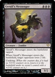 Magic the Gathering Dark Ascension Single Geralf's Messenger - NEAR MINT (NM)