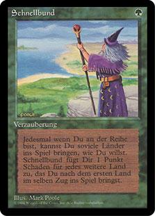 Magic the Gathering 3rd Ed (Revised) FBB German Single Fastbond - NEAR MINT (NM)