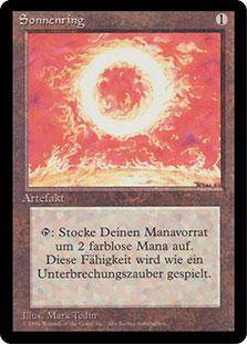 Magic the Gathering 3rd Ed (Revised) FBB German Single Sol Ring - NEAR MINT (NM)