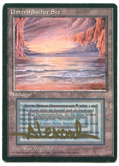 Magic the Gathering 3rd Ed. (Revised)  Edition Single Underground Sea FBB GERMAN - MODERATE PLAY ARTIST SIGNED