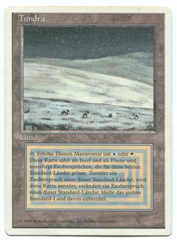 Magic the Gathering Revised Single Tundra GERMAN - MODERATE PLAY (MP)