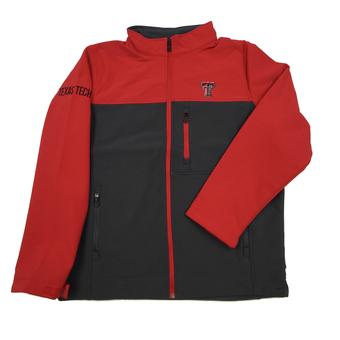 Texas Tech Red Raiders Colosseum Red & Grey Yukon II Full Zip Jacket (Adult L)