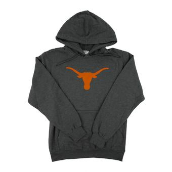 Texas Longhorns Majestic Gray Big Win Pullover Fleece Hoodie (Adult L)