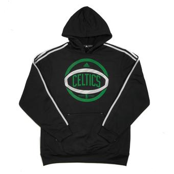 Boston Celtics Adidas Black 3 Stripe Fleece Hoodie (Adult L)