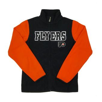 Philadelphia Flyers Reebok Black Full Zip Microfleece Jacket (Womens S)