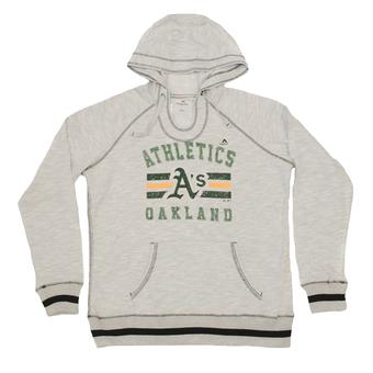 Oakland Athletics Majestic Heather Gray All Time Slugger Hoodie (Womens XXL)