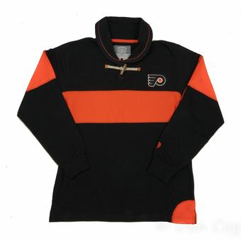 Philadelphia Flyers Old Time Hockey Jerry Black Toggle Long Sleeve Crew (Adult M)