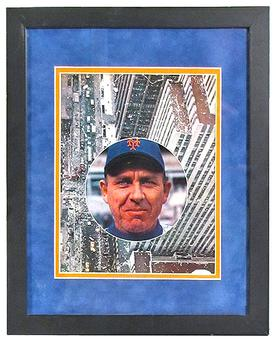 Gil Hodges Autographed & Framed New York Mets Magazine Page (JSA COA)