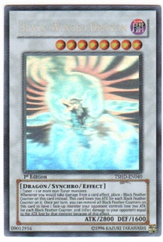 Yu-Gi-Oh Shining Darkness Single Black-Winged Dragon Ghost Rare