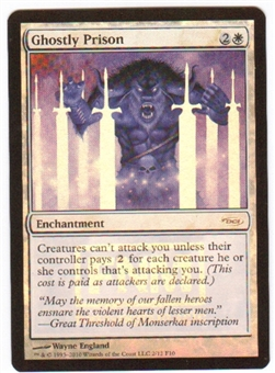 Magic the Gathering Promo Single Ghostly Prison FOIL (FNM)
