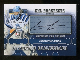 2012/13 In the Game Between The Pipes Autographs #ACG Christopher Gibson Autograph