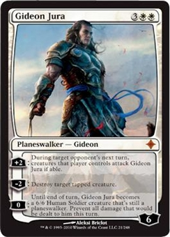 Magic the Gathering Rise of the Eldrazi Single Gideon Jura FOIL