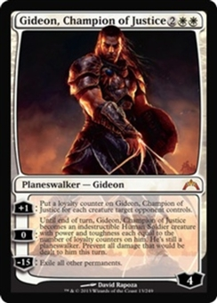 Magic the Gathering Gatecrash Single Gideon, Champion of Justice LIGHT PLAY (NM)