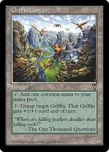 Magic the Gathering Visions Single Griffon Canyon - NEAR MINT (NM)