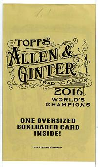2016 Topps Allen & Ginter Baseball Oversized Boxloader Card Topper Pack