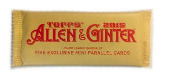 2015 Topps Allen & Ginter Baseball Mini Parallel Topper Pack (RARE)